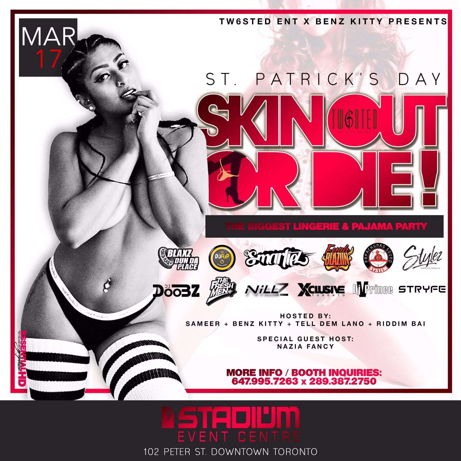 SKIN OUT OR DIE! | Lingerie & Pajama Party| St. Patricks Day | March 17th