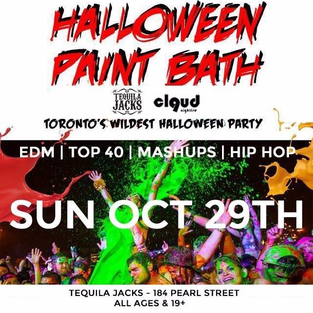 Halloween Paint Bath 2017 @ Tequila Jacks // Sun Oct 29 | All Ages & 19+
