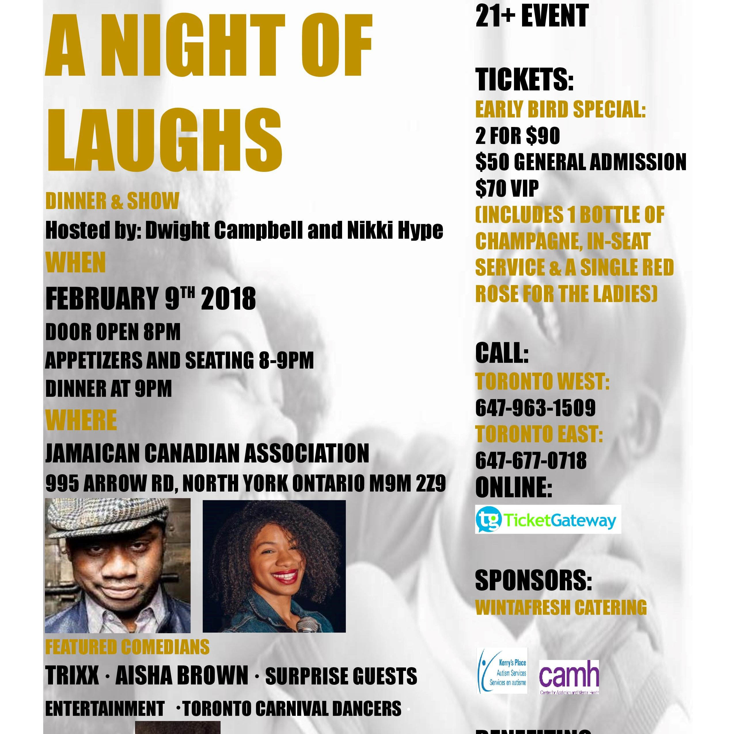 A NIGHT OF LAUGHS DINNER & SHOW