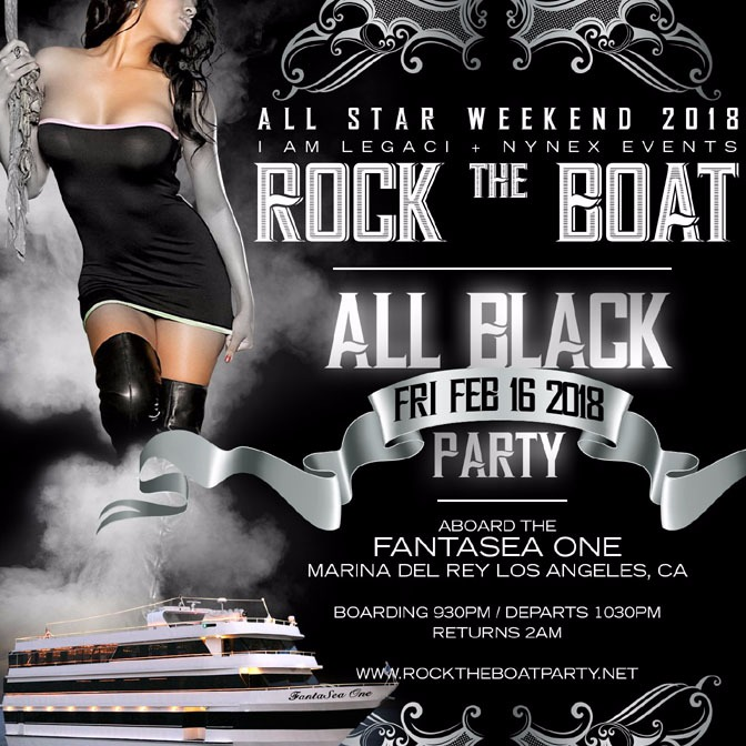 ROCK THE BOAT ALL STAR WEEKEND 2018 ALL BLACK YACHT PARTY
