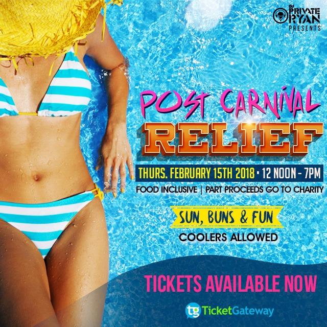 Post Carnival Relief - Sun, Buns and Fun