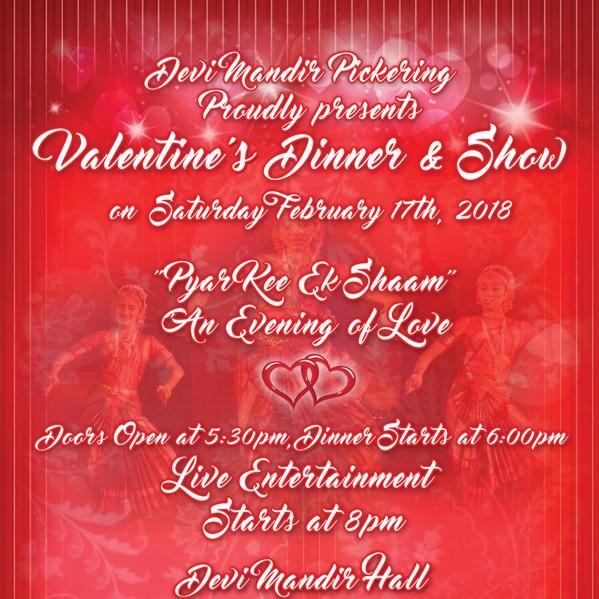 Devi Mandir Pickering - Valentine's Dinner & Dance