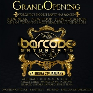 BARCODE  SATURDAYS @ ORCHID
