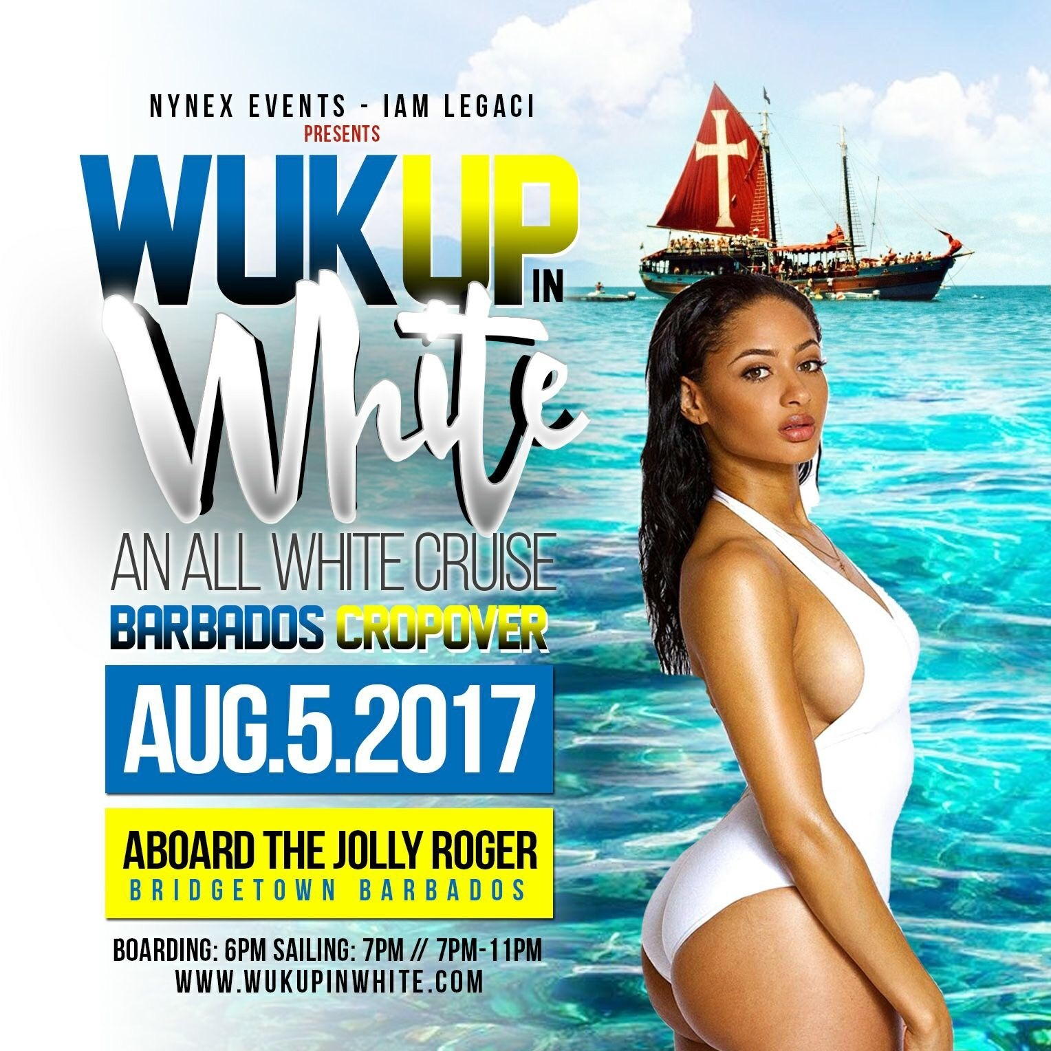 WUK UP IN WHITE The All White Cruise · Barbados Crop Over 2017