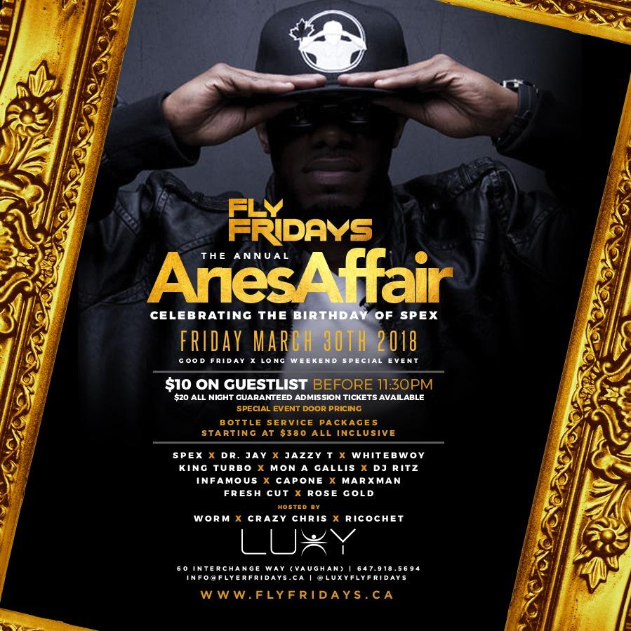 FLY FRIDAYS  - The Annual Aries Affair