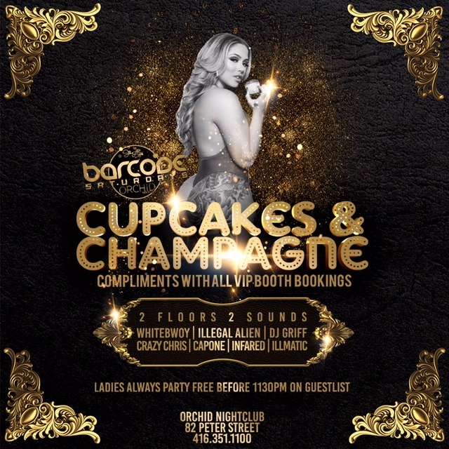 BARCODE SATURDAYS - CUPCAKES & CHAMPAGNE