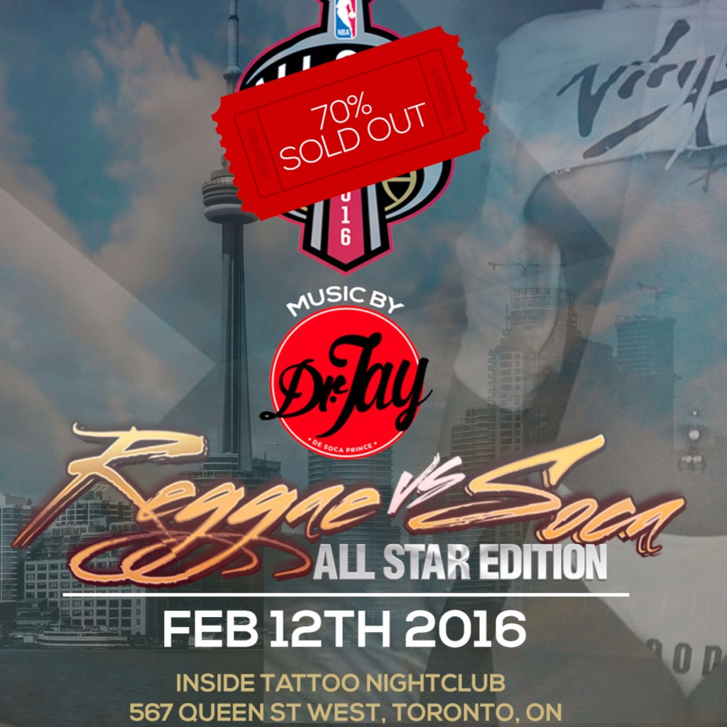 Reggae Vs Soca: NBA All Star Edition Ft. DR JAY★ Feb 12th@ TATTOO Nightclub