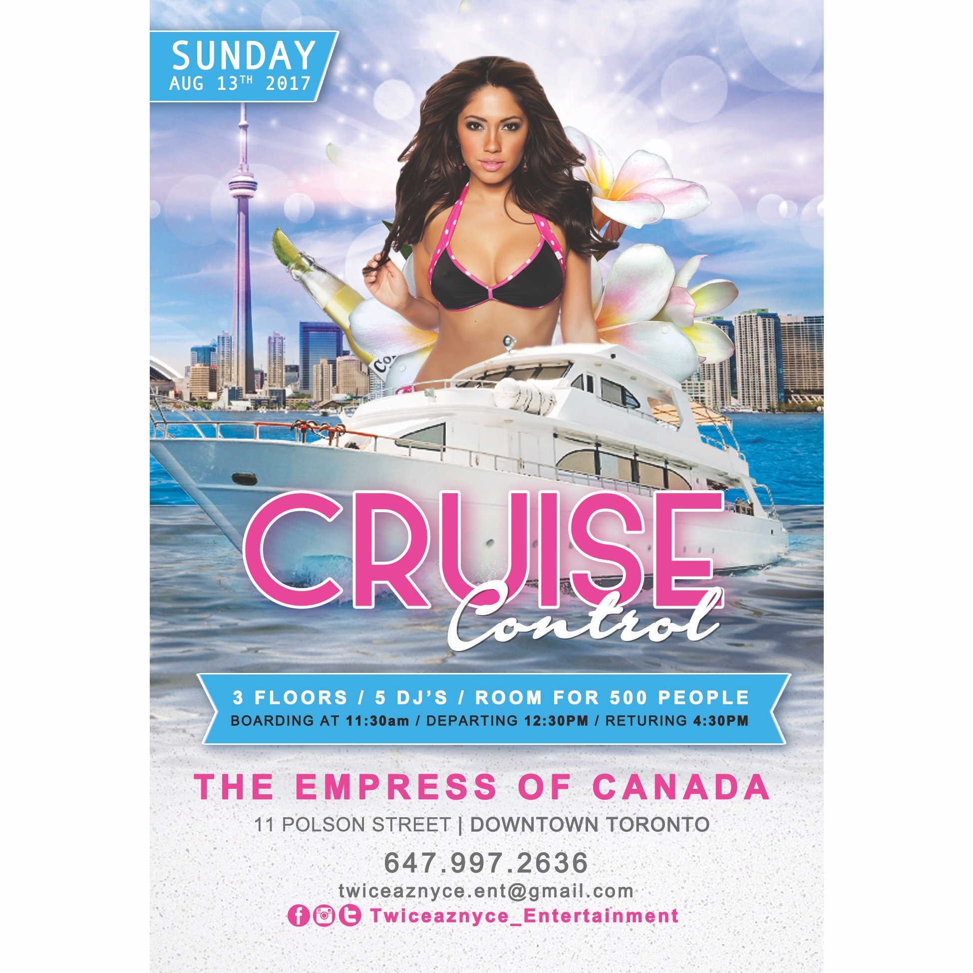 Cruise Control ... The Official Top 40 Booze Cruise for Summer 17'