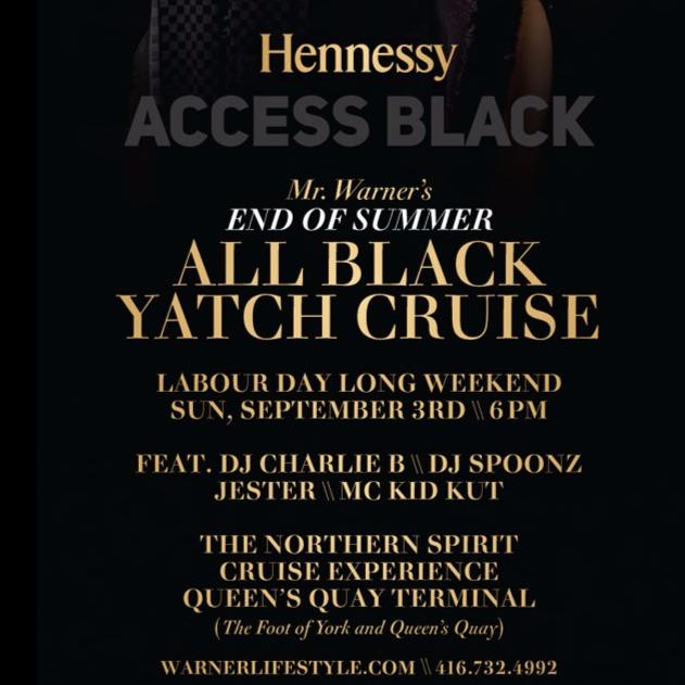 Mr. Warner's - All Black Yatch Cruise