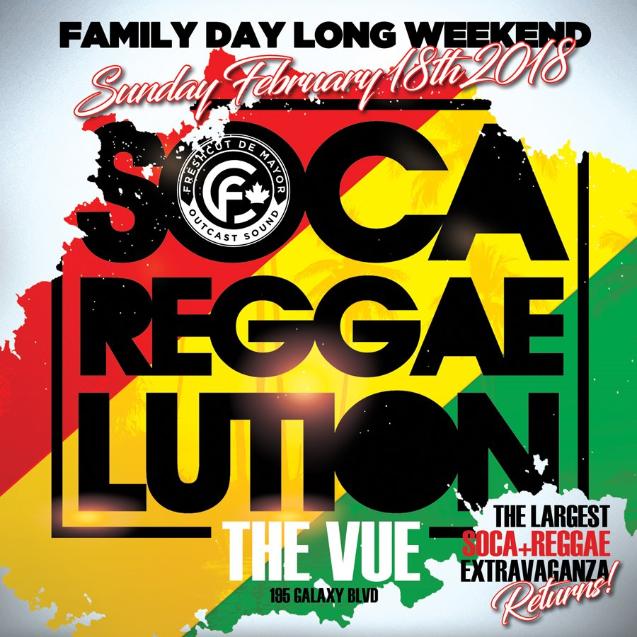 SOCA REGGAELUTION FAMILY DAY LONG WEEKEND