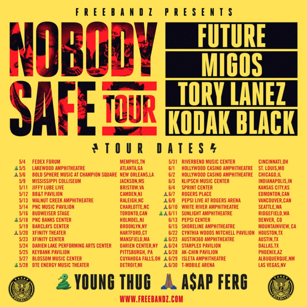Future, Migos, Tory Lanez & Kodak Black at Barclays Center