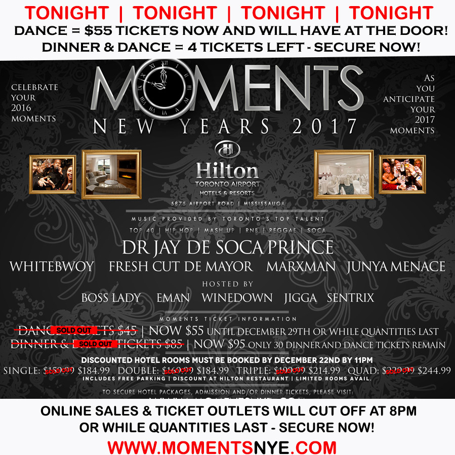 Moments at The Hilton Hotel  - New Year's Eve Hotel Gala