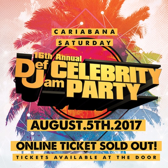 16TH ANNUAL CARIBANA DEF JAM CELEBRITY PARTY 2017