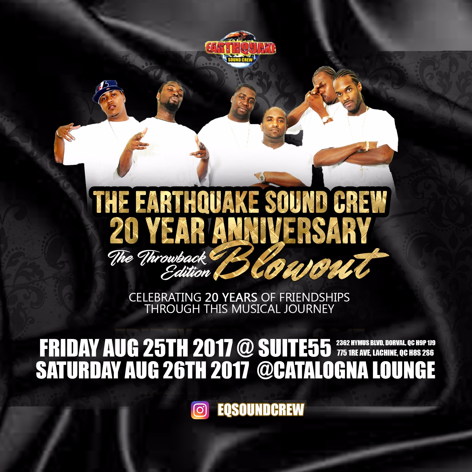 THE EARTHQUAKE SOUNDCREW 20TH ANNIVERSARY