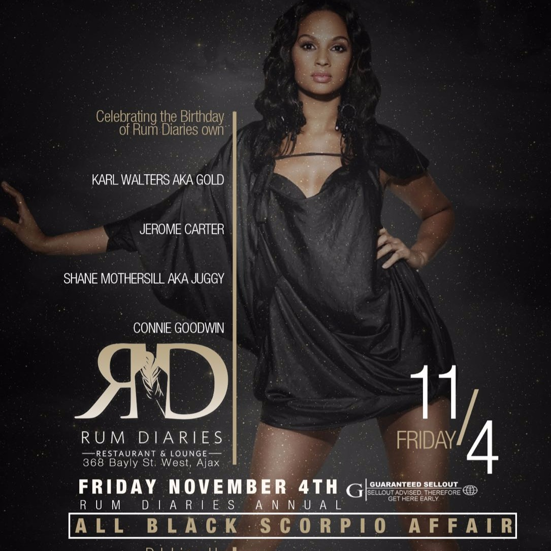 RUM DIARIES ANNUAL ALL BLACK SCORPIO AFFAIR