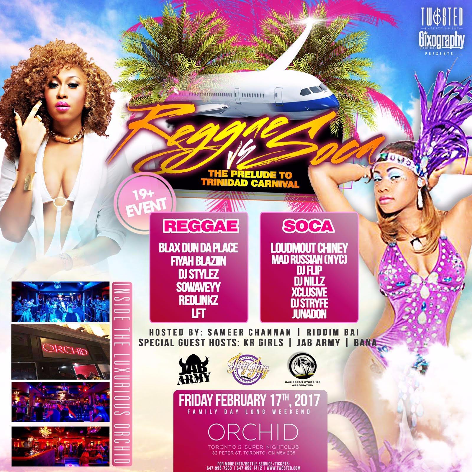 Reggae Vs Soca: Prelude To Trinidad Carnival | Family Day Long Weekend