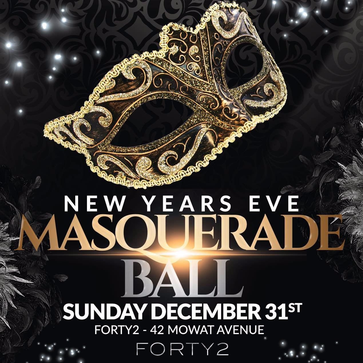 NYE Masquerade Ball @ Forty2 // Sun Dec 31st (19+)