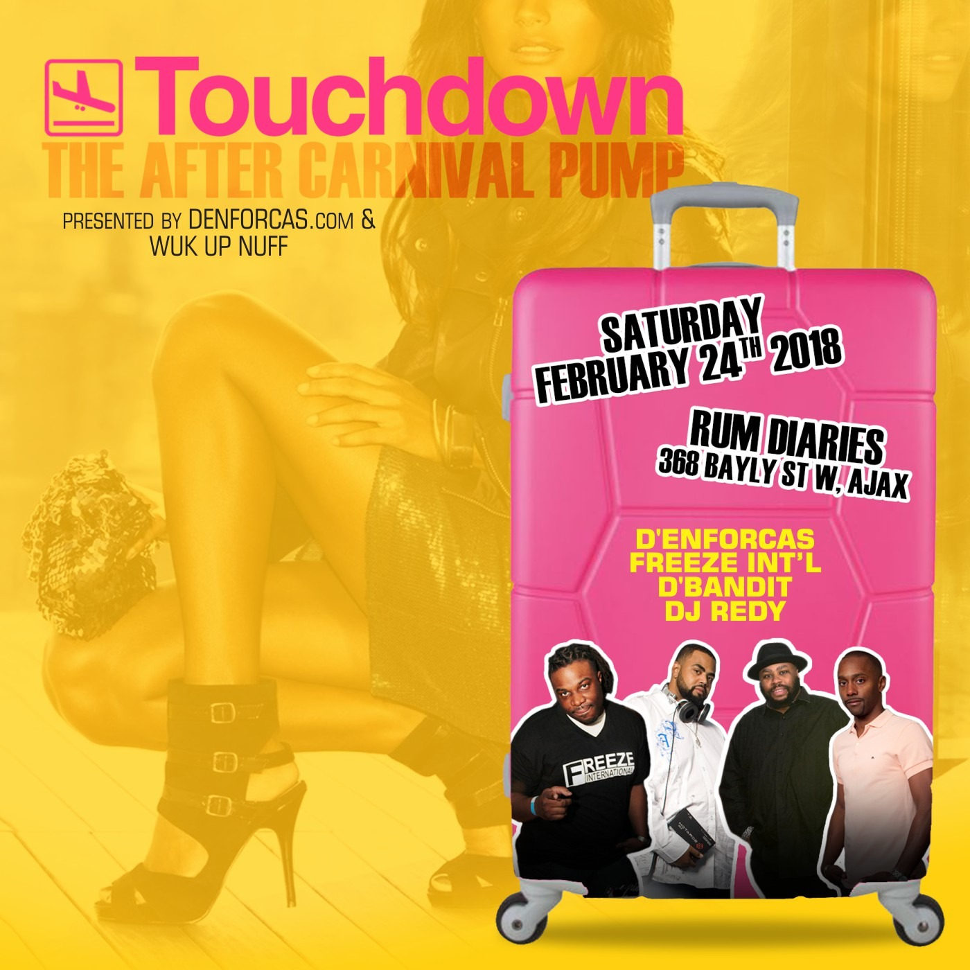 TOUCH DOWN: The After Carnival Pump