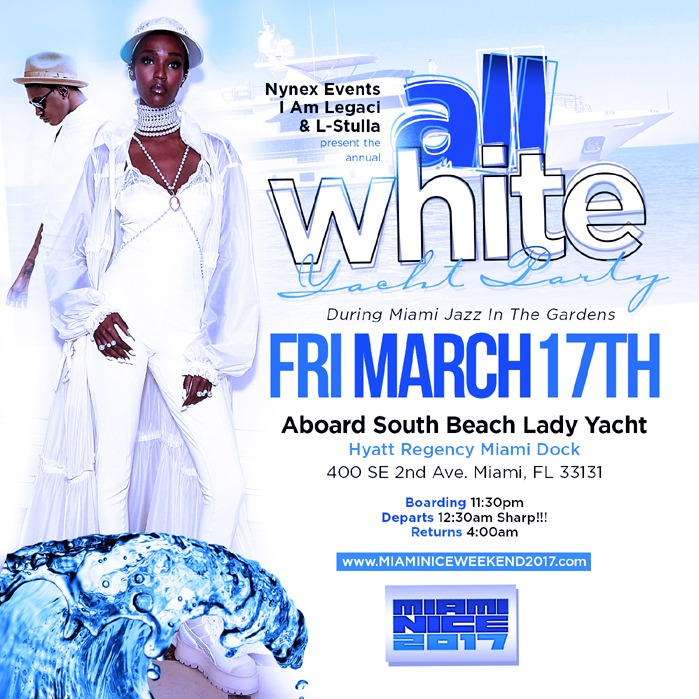 Miami Nice 2017 Annual All White Yacht Party Jazz in the Garden