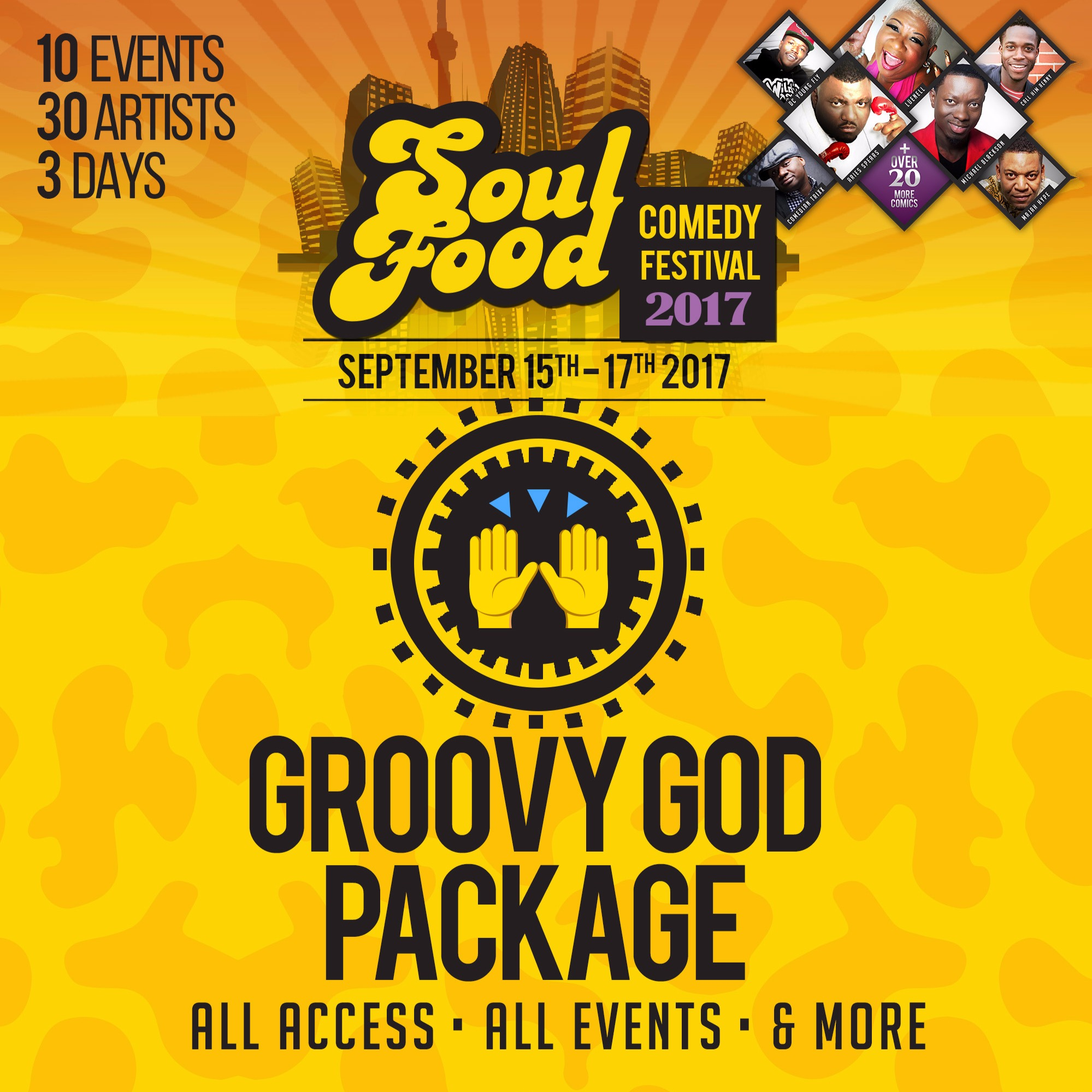 GroovyGod Package - All Access / All Events (2017 Soul Food Comedy Festival