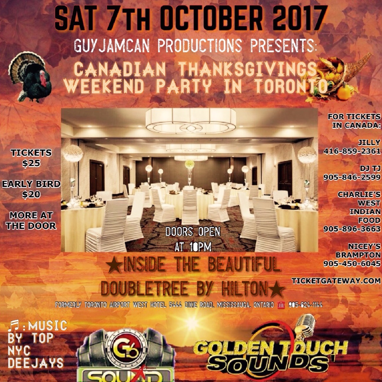 CANADIAN THANKSGIVINGS WEEKEND PARTY IN TORONTO
