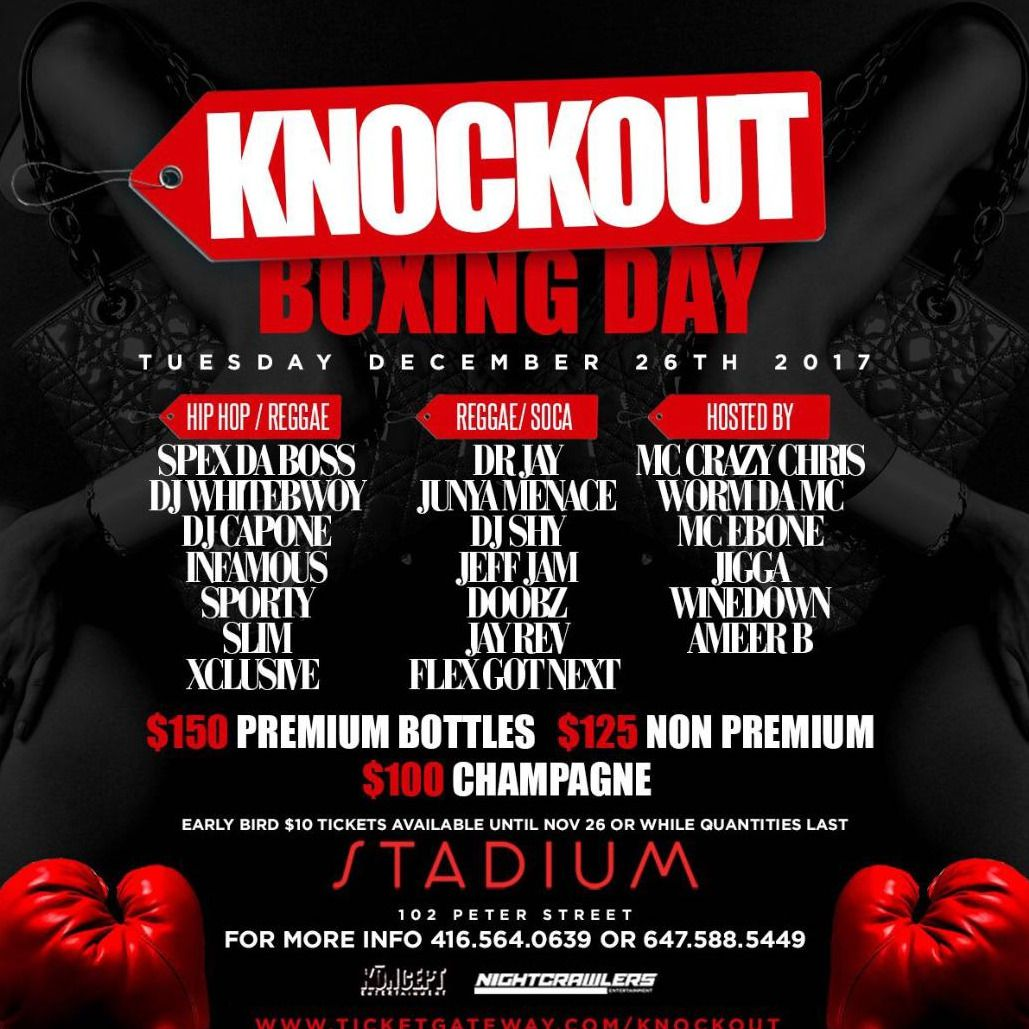 KNOCKOUT BOXING DAY FT DR JAY
