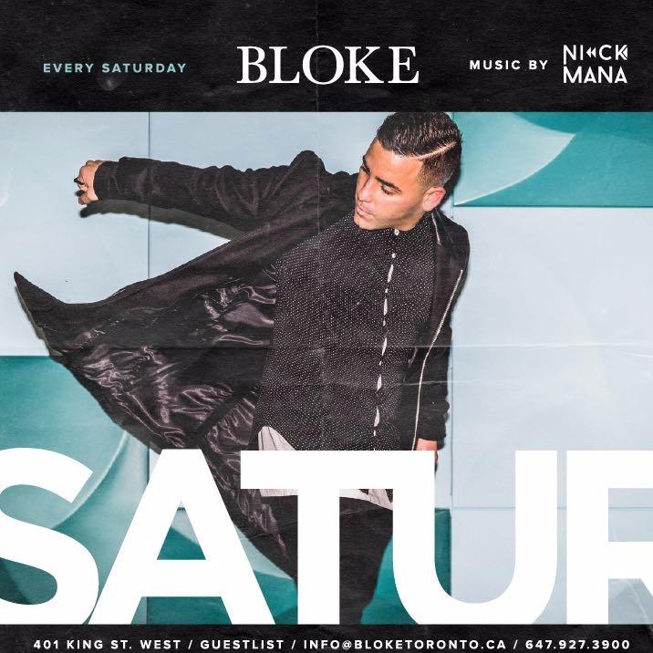 Bloke Saturdays @ Bloke