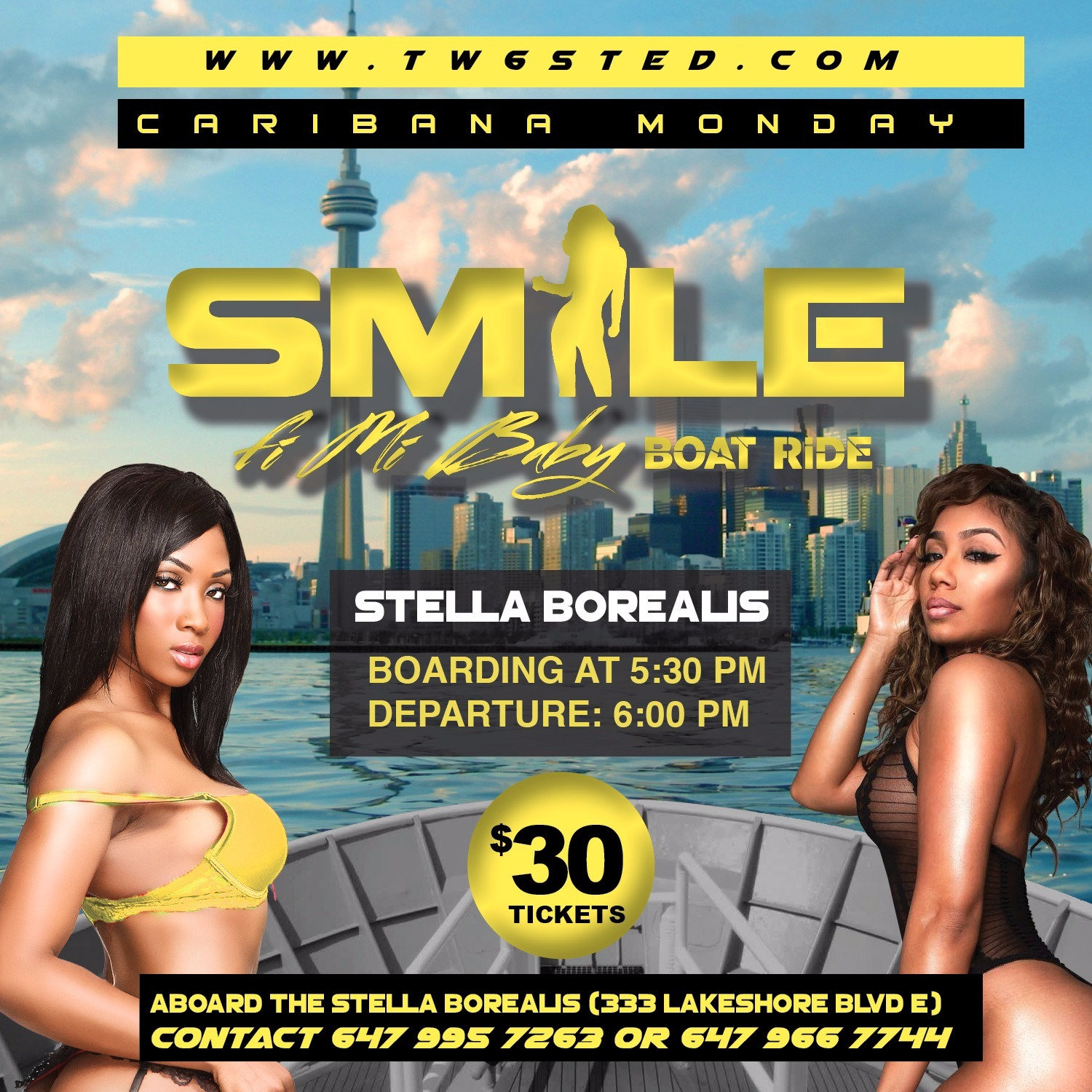 SMILE - On The Lakeshore Boat Cruise ★ Caribana Monday ★