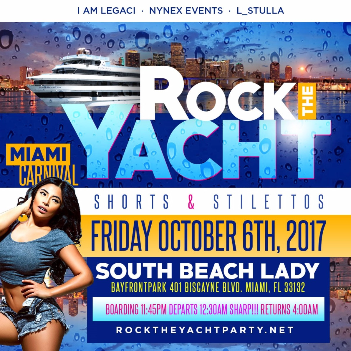 ROCK THE YACHT Shorts and Stilettos Edition Miami Carnival 2017 Yacht Party - Columbus Day Weekend