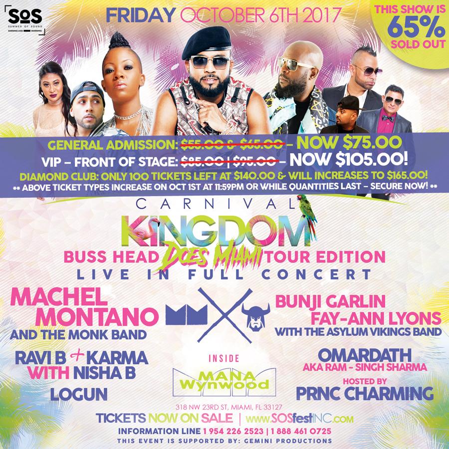MACHEL MONTANO & BUNJI GARLIN LIVE | CARNIVAL KINGDOM | MIAMI CARNIVAL