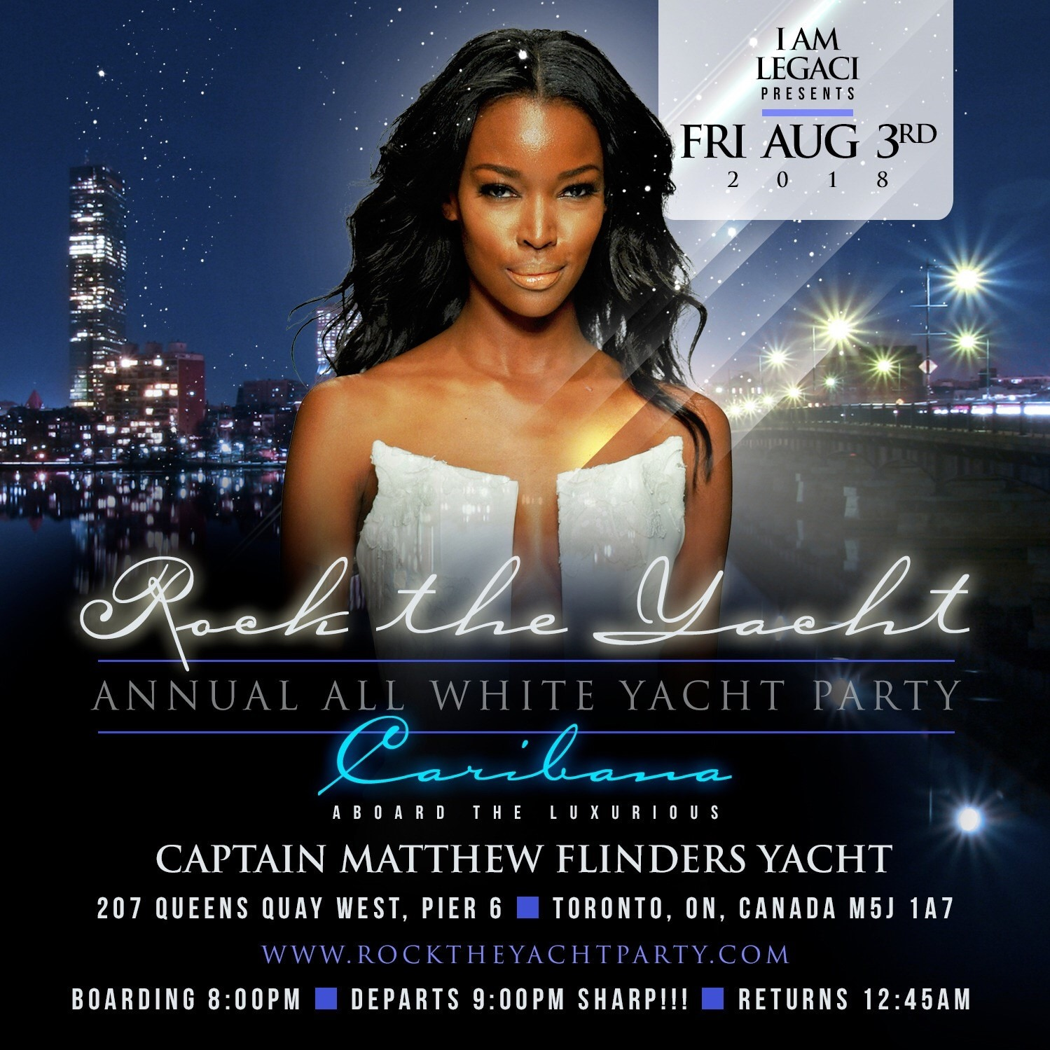 ROCK THE YACHT THE 6th ANNUAL ALL WHITE YACHT PARTY TORONTO CARIBANA 2018