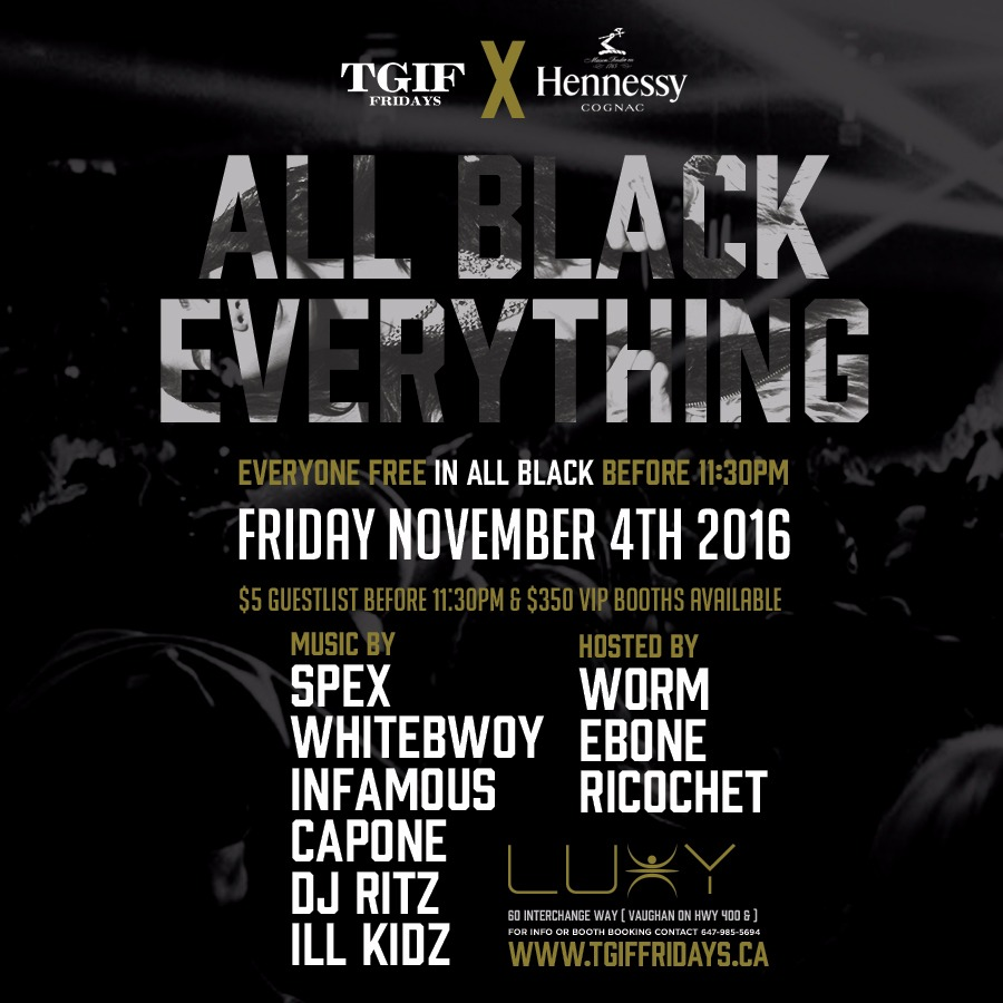 All Black Everything: Genese Toronto Carnival 2016 Tickets
