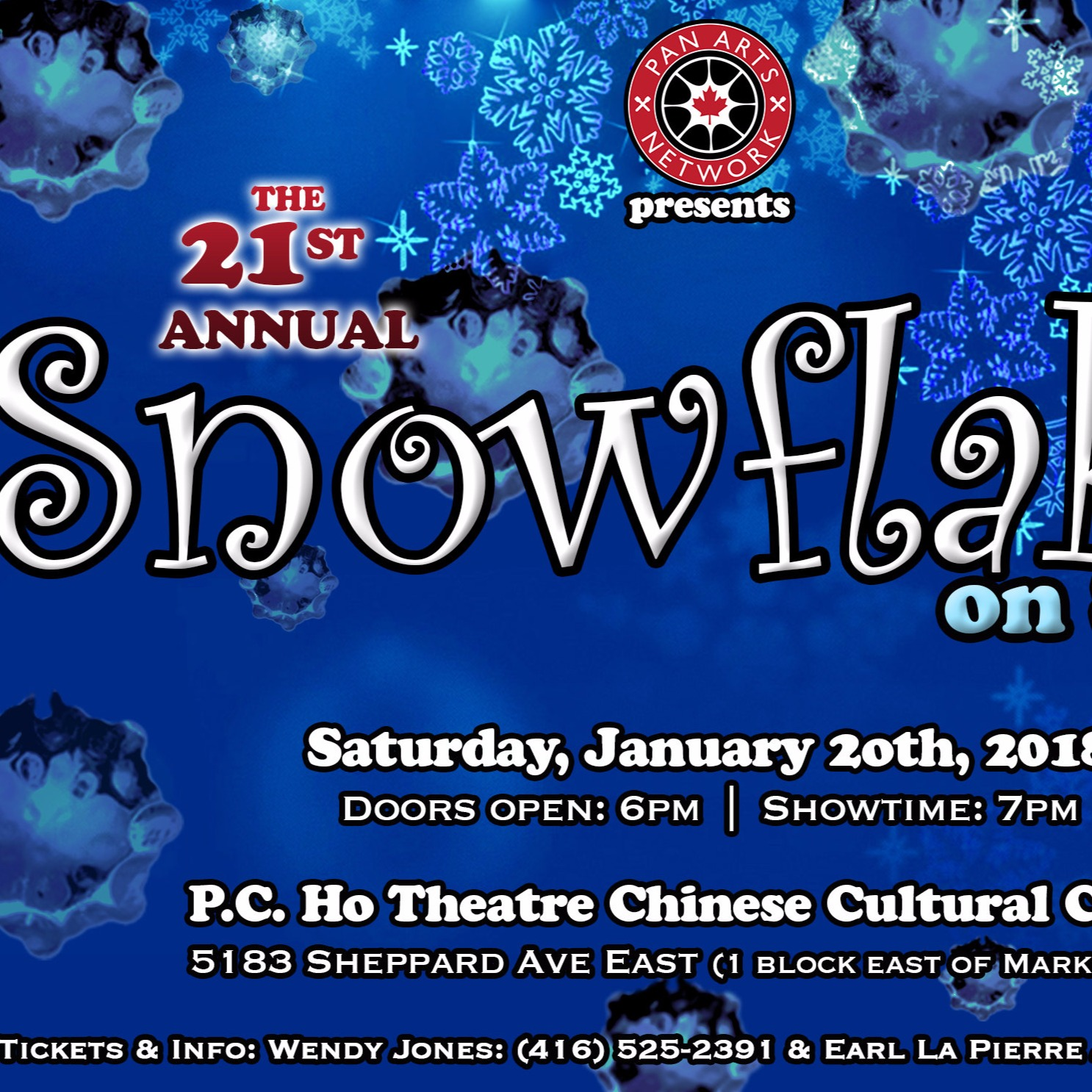 21st ANNUAL SNOWFLAKES ON STEEL