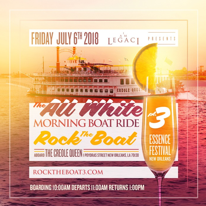 ROCK THE BOAT pt. 3 · THE 2018 ALL WHITE MORNING BOAT RIDE PARTY DURING NEW ORLEANS ESSENCE MUSIC FESTIVAL
