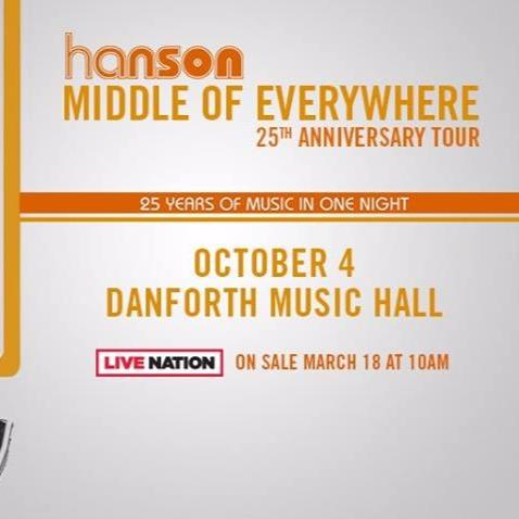 Hanson at Danforth Music Hall