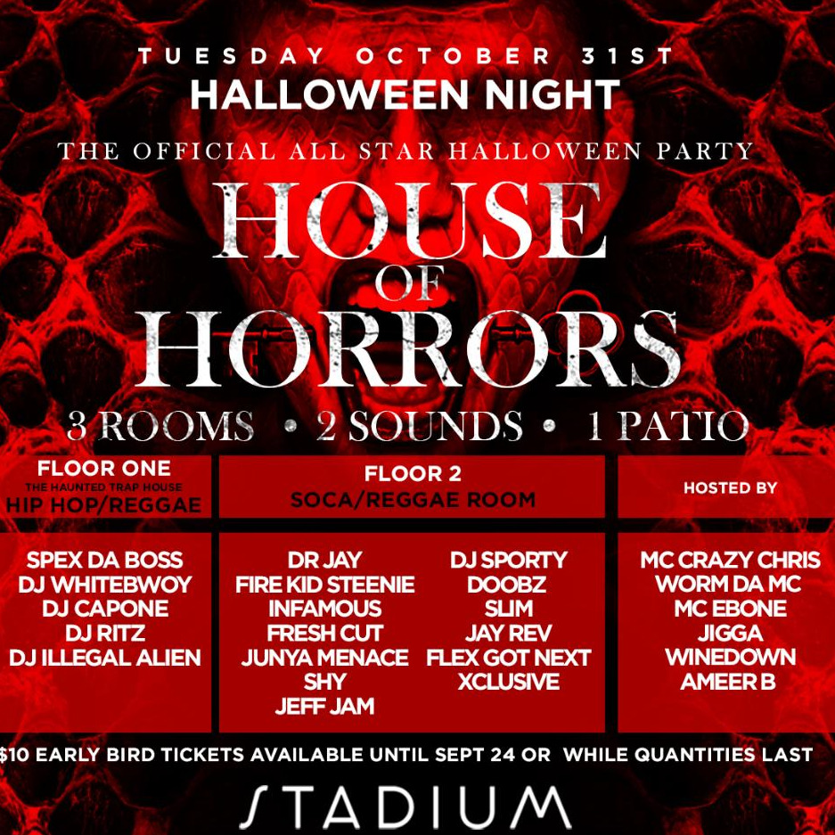 ALL STAR HALLOWEEN PARTY - HOUSE OF HORRORS 2017