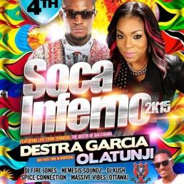 SOCA INFERNO 2K15 FEAT DESTRA GARCIA & OLATUNJI LIVE FROM TRINIDAD & TOBAGO