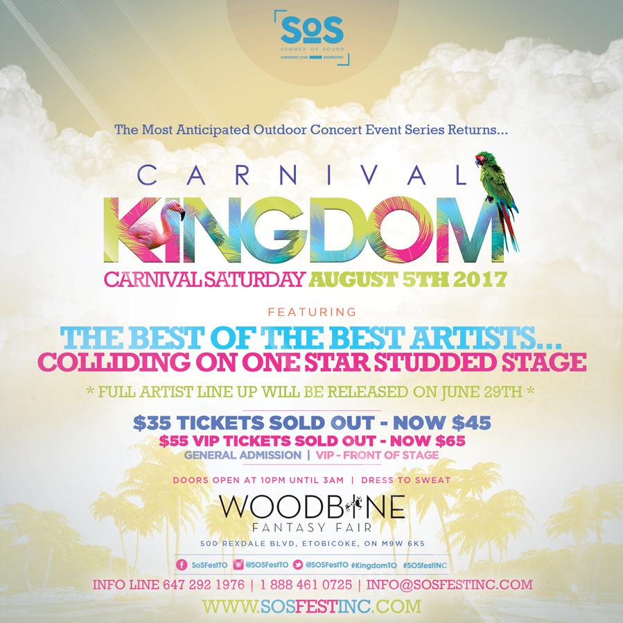 CARNIVAL KINGDOM 2017   SOS Fest Carnival Saturday's Biggest Concert Event