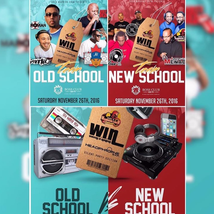 WIN FETE - OLD SCHOOL VS NEW SCHOOL - SILENT PARTY