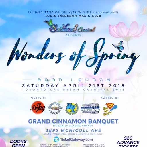 Louis Saldenah  2018 Band Launch - Wonders of Spring