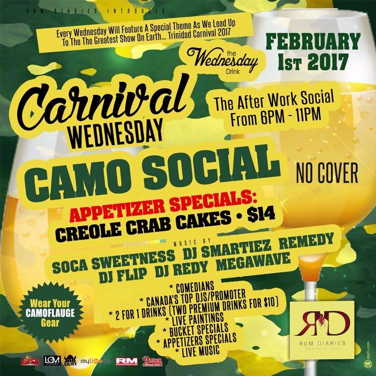 CARNIVAL WEDNESDY CAMO SOCIAL