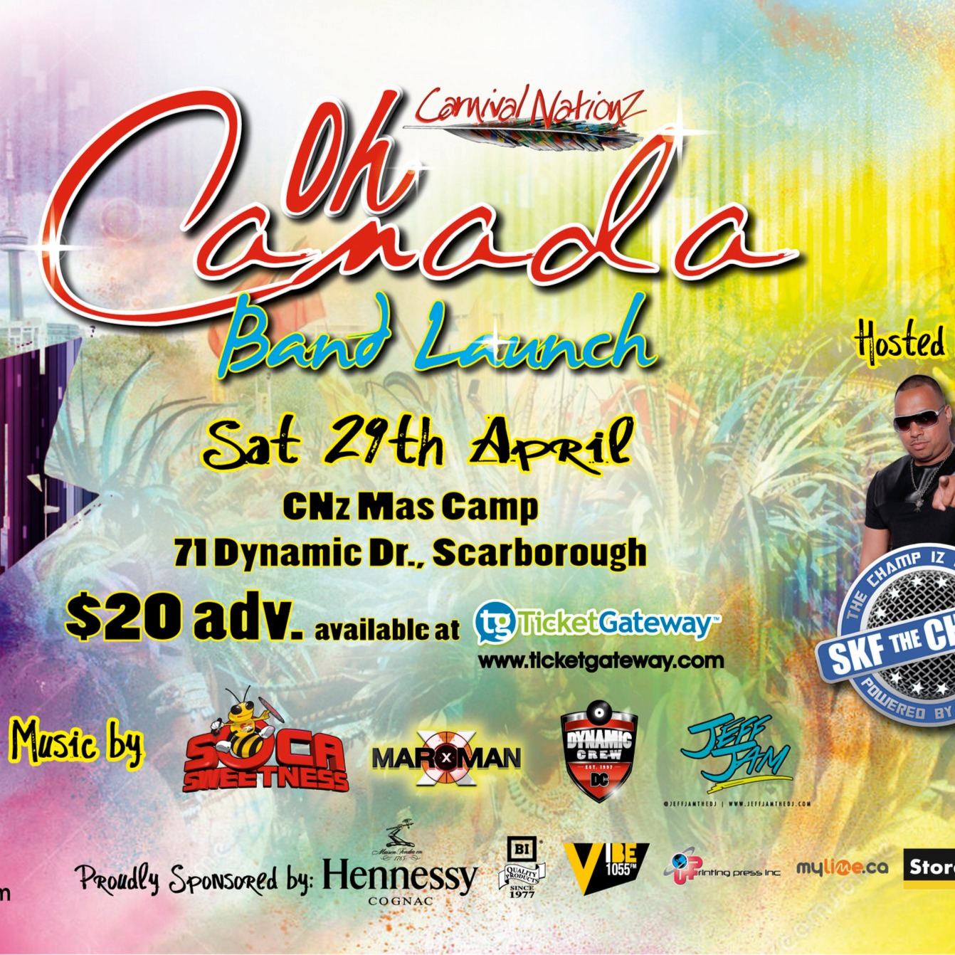 CARNIVAL NATIONZ BAND LAUNCH - OH CANADA