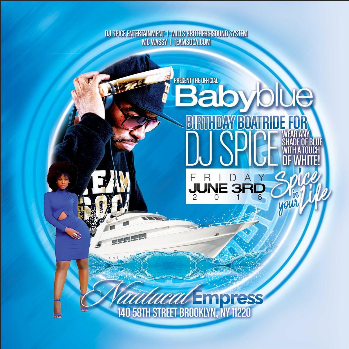 Baby Blue Birthday Boatride for DJ Spice