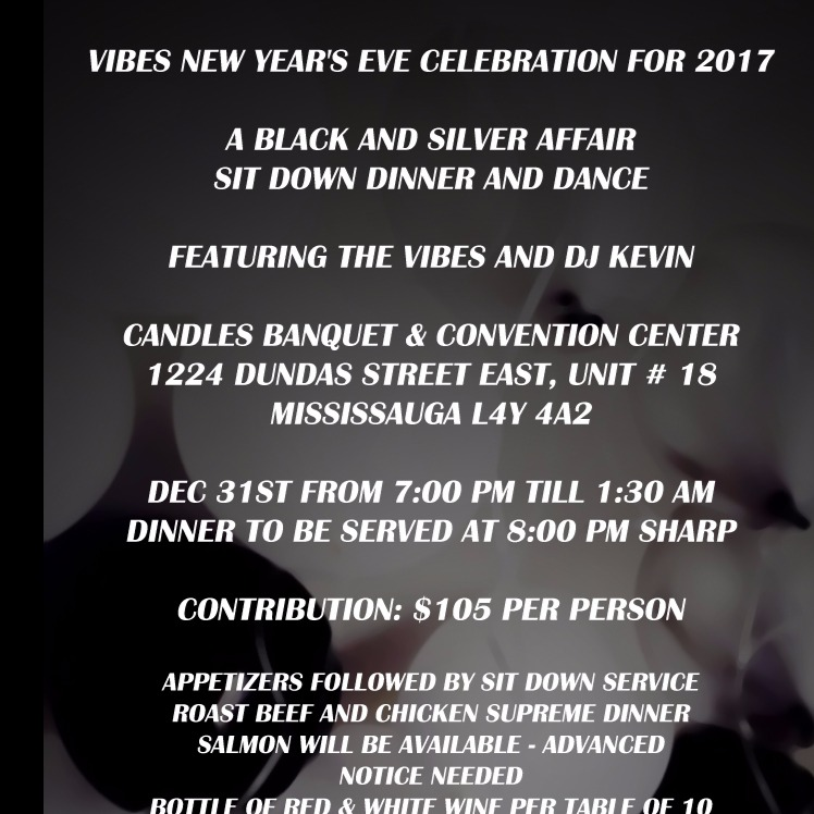VIBES NEW YEAR'S EVE CELEBRATION FOR 2017