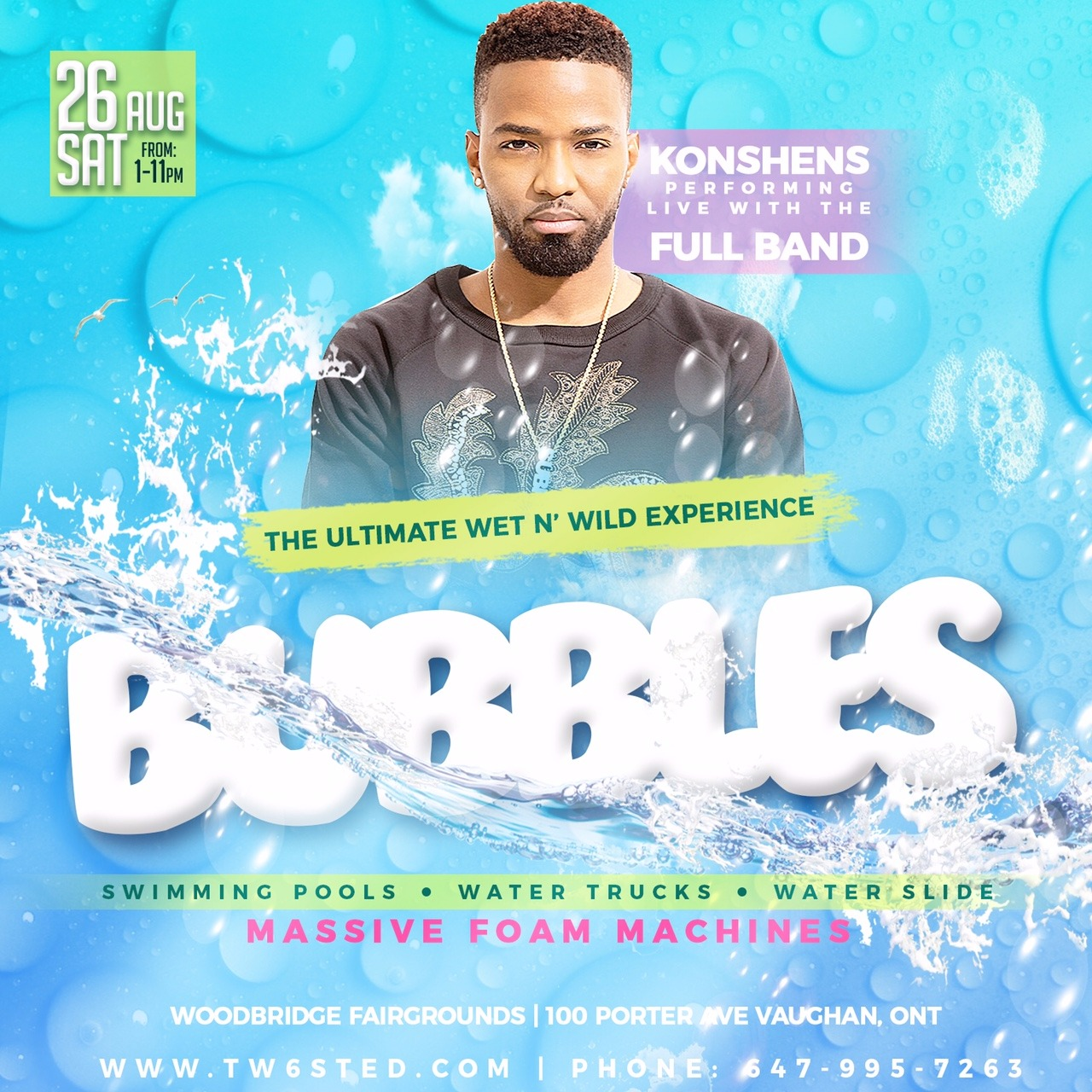 BUBBLES | Ft. Konshens | The Ultimate Wet & Wild Experience |