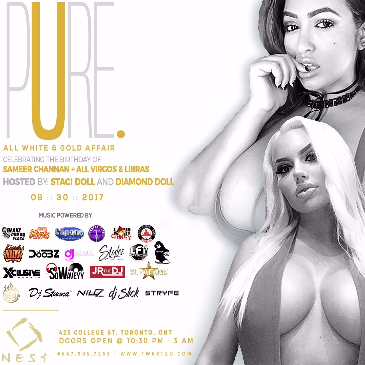PURE: All White & Gold Affair | Hosted By Staci & Diamond Doll | Sept 30th