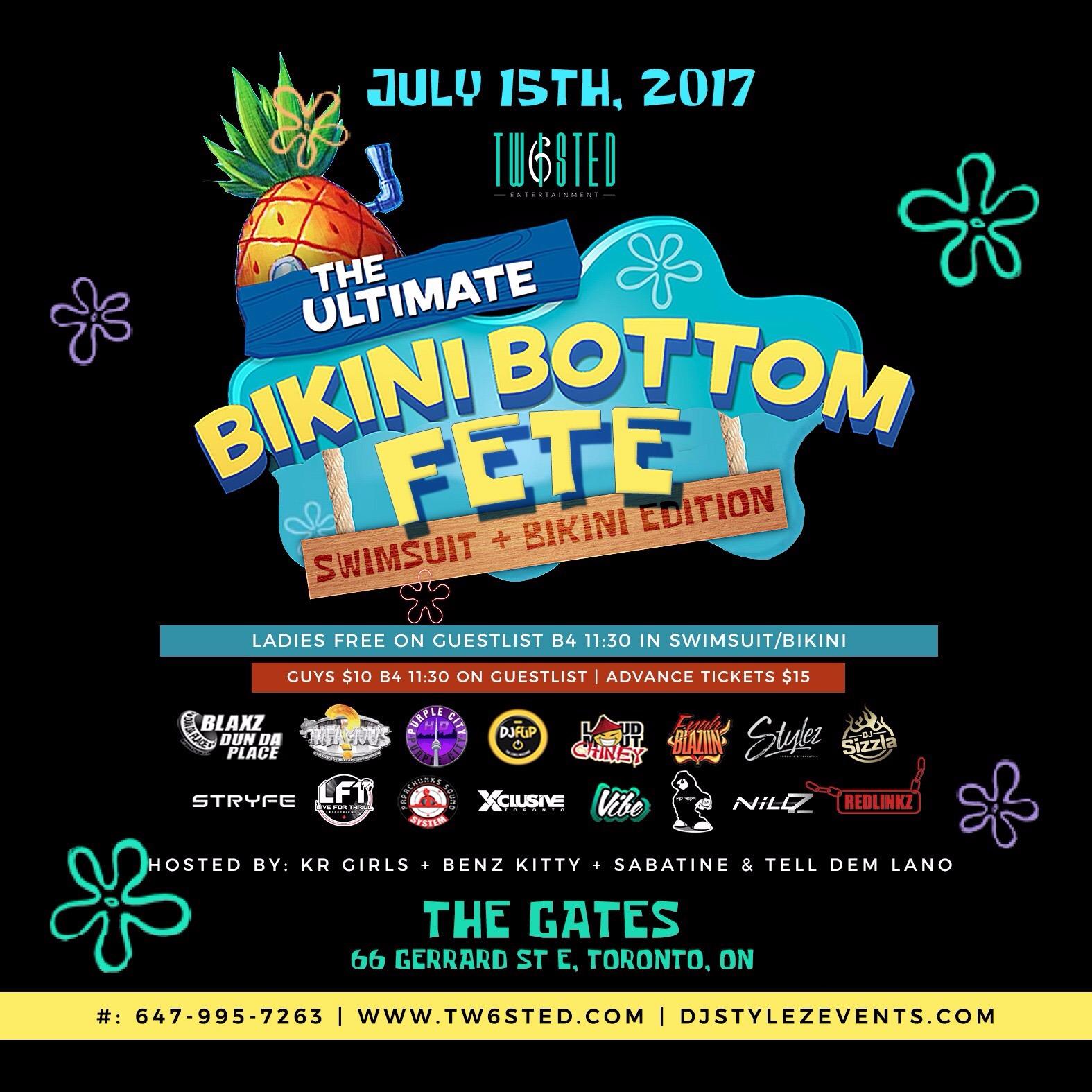BIKINI BOTTOM FETE | SWIMSUIT + BIKINI EDITION | JULY 15TH, 2017