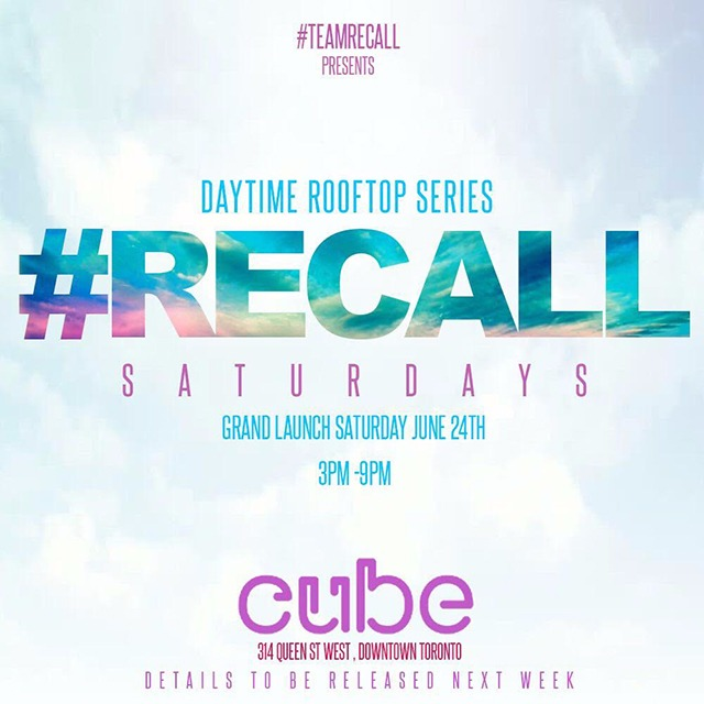 #Recall Saturdays @ CUBE