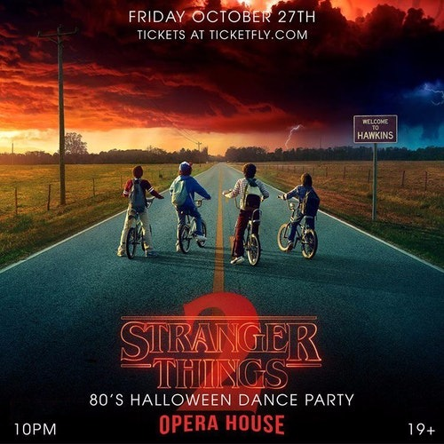 Stranger Things - 80's Halloween Dance Party at Opera House