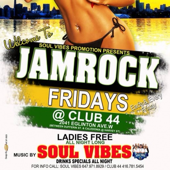 JAM ROCK FRIDAYS @ Club 44